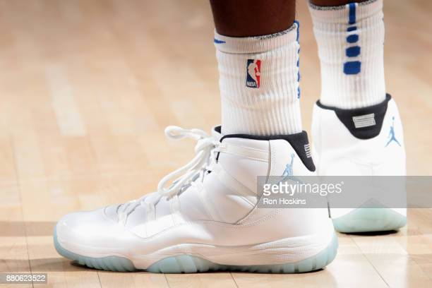 Sneakers of Terrence Ross of the Orlando Magic during the game against the Indiana Pacers on November 27 2017 at Bankers Life Fieldhouse in...