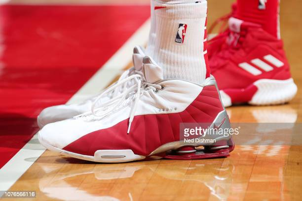 Sneakers of Vince Carter of the Atlanta Hawks seen during the game against the Washington Wizards on January 2 2019 at Capital One Arena in...