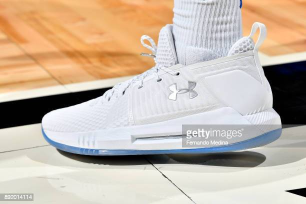 Sneakers of Wesley Iwundu of the Orlando Magic during the game against the LA Clippers on December 13 2017 at Amway Center in Orlando Florida NOTE TO...