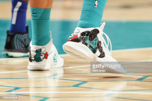 Sneakers of Willy Hernangomez of the Charlotte Hornets on November 17 2018 at Spectrum Center in Charlotte North Carolina NOTE TO USER User expressly...