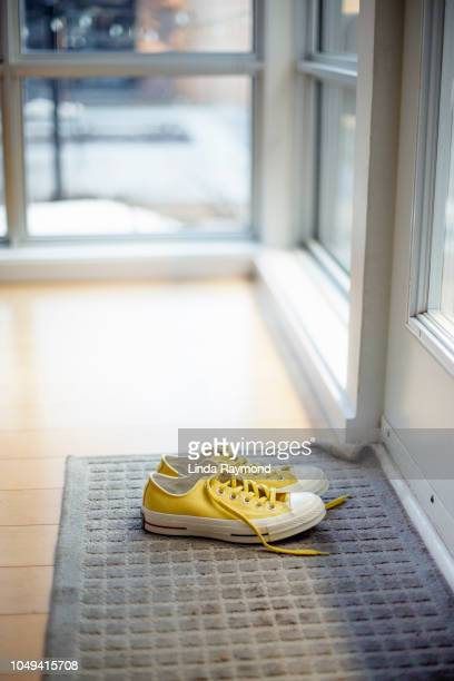 sneakers - linda wilton stock pictures, royalty-free photos & images
