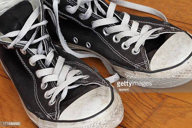 sneakers - basketball shoe stock photos and pictures