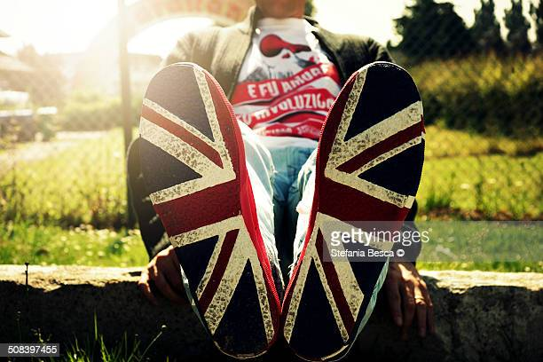 Sneakers with english flag