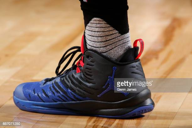 Sneakers worn by Blake Griffin of the Los Angeles Clippers during the game against the Dallas Mavericks on March 23 2017 at the American Airlines...