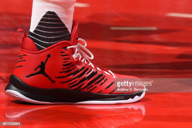 Sneakers worn by Blake Griffin of the Los Angeles Clippers during the game against the Washington Wizards on March 29 2017 at STAPLES Center in Los...