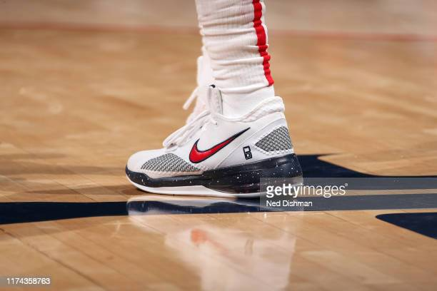 Sneakers worn by Bradley Beal of Washington Wizards against the New York Knicks during preseason on October 7 2019 at Capital One Arena in Washington...