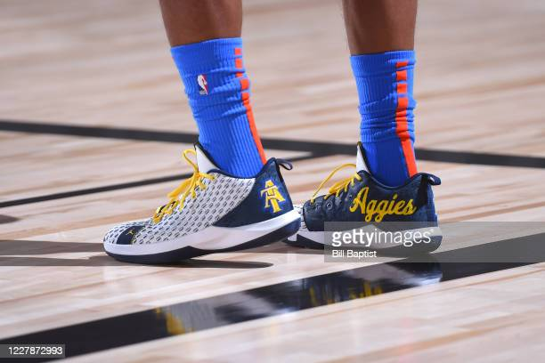 Sneakers worn by Chris Paul of the Oklahoma City Thunder on August 1 2020 at The Arena at ESPN Wide World of Sports in Orlando Florida NOTE TO USER...