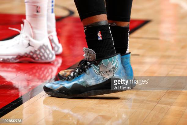 Sneakers worn by Daniel Gafford of the Chicago Bulls on March 2, 2020 at United Center in Chicago, Illinois. NOTE TO USER: User expressly...
