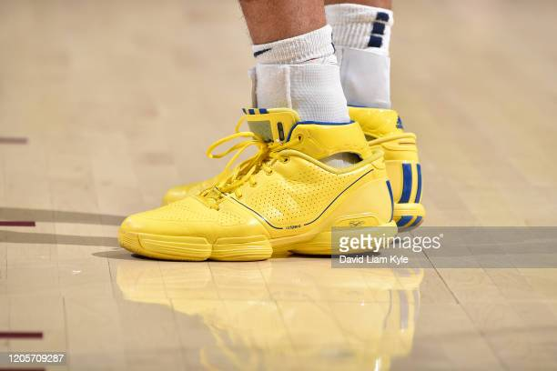 Sneakers worn by Jamal Murray of the Denver Nuggets on March 7 2020 at Rocket Mortgage FieldHouse in Cleveland Ohio NOTE TO USER User expressly...
