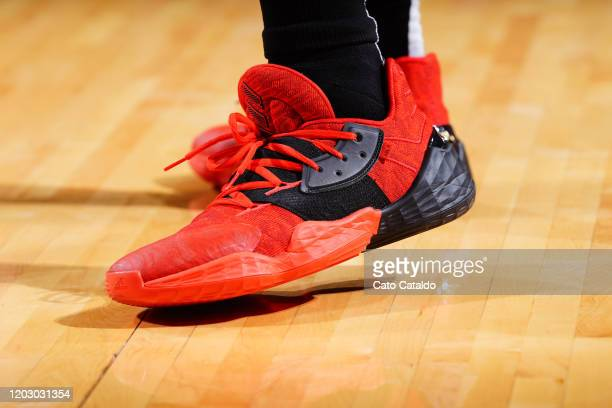 Sneakers worn by James Harden of the Houston Rockets against the New York Knicks on February 24 2020 at the Toyota Center in Houston Texas NOTE TO...
