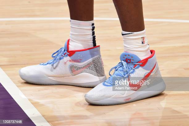 Sneakers worn by Jaren Jackson Jr #13 of the Memphis Grizzlies on February 21 2020 at STAPLES Center in Los Angeles California NOTE TO USER User...