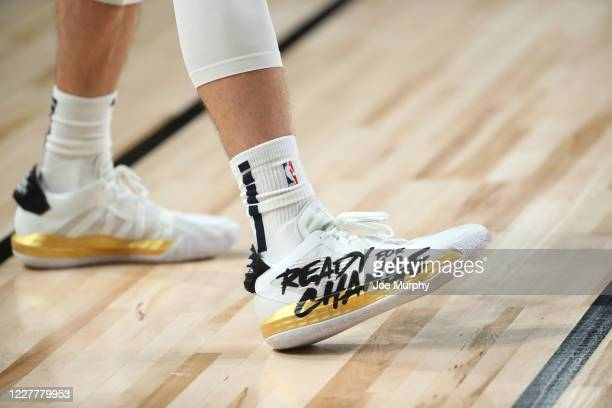 Sneakers worn by JJ Redick of the New Orleans Pelicans on July 25 2020 at HP Field House at ESPN Wide World of Sports Complex in Orlando Florida NOTE...