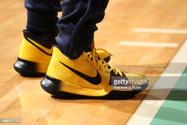 Sneakers worn by Kristi Toliver of the Washington Mystics during the game against the New York Liberty in Round Two of the 2017 WNBA Playoffs on...