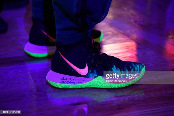 Sneakers worn by Kyrie Irving of the Boston Celtics against the LA Clippers on February 9 2019 at the TD Garden in Boston Massachusetts NOTE TO USER...