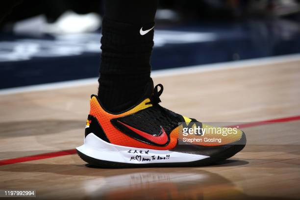 Sneakers worn by Kyrie Irving of the Brooklyn Nets against the Washington Wizards on February 1 2020 at Capital One Arena in Washington DC NOTE TO...
