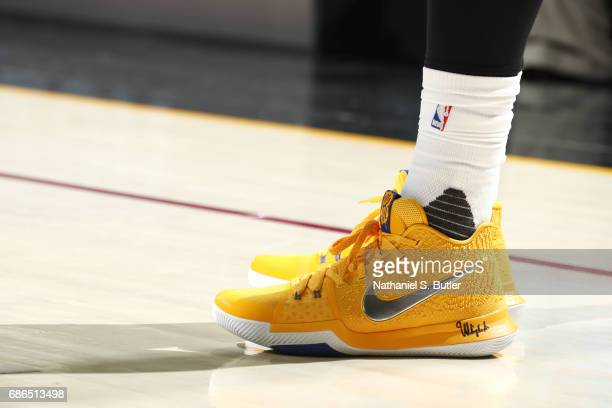 Sneakers worn by Kyrie Irving of the Cleveland Cavaliers during the game against the Boston Celtics in Game Three of the Eastern Conference Finals...