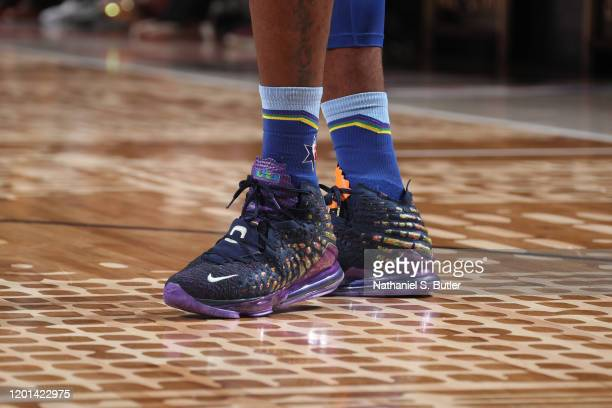 Sneakers worn by LeBron James of Team LeBron during the 69th NBA AllStar Game on February 16 2020 at the United Center in Chicago Illinois NOTE TO...