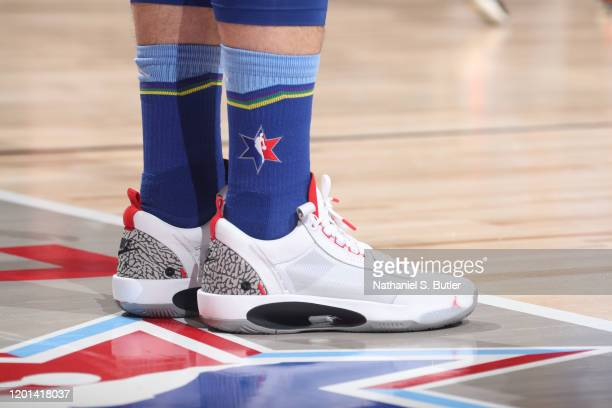 Sneakers worn by Luka Doncic of Team LeBron during the 69th NBA AllStar Game on February 16 2020 at the United Center in Chicago Illinois NOTE TO...