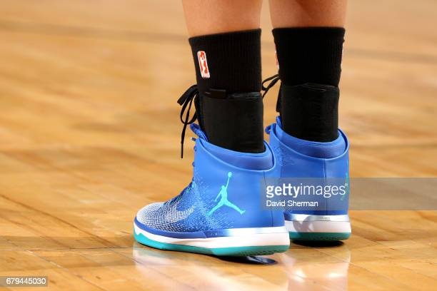Sneakers worn by Maya Moore of the Minnesota Lynx during the game against the Atlanta Dream during the preseason WNBA game on May 5 2017 at Xcel...
