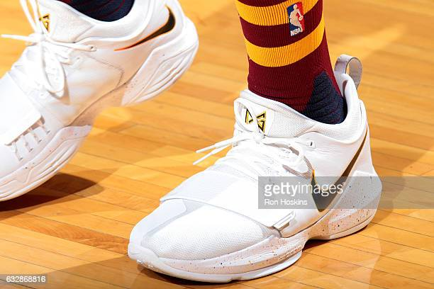 1071c600f29e Sneakers worn by Paul George of the Indiana Pacers during the game against  the Sacramento Kings
