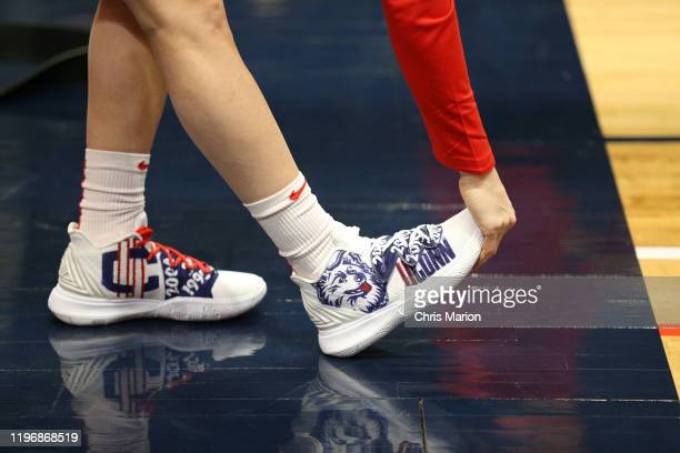 Sneakers worn by Sue Bird of the USA Women's National Team before the game against the UConn Huskies on January 27 2020 at XL Center in Hartford...