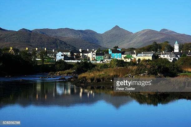 Sneem, Co Kerry, Ireland; View of village and lake