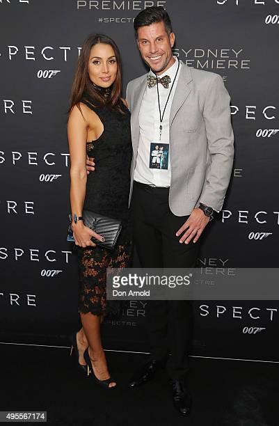 Snezana Markoski and Sam Wood arrive ahead of the Australian premiere of the latest James Bond film 'SPECTRE' on November 4 2015 in Sydney Australia