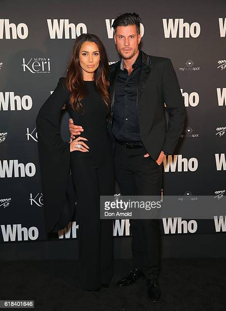 Snezana Markoski and Sam Wood arrives ahead of the WHO Sexiest People Party on October 26 2016 in Sydney Australia