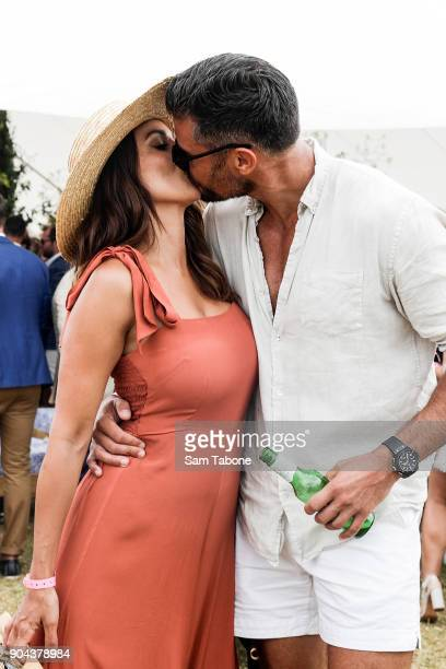 Snezana Markoski and Sam Wood attends Portsea Polo on January 13 2018 in Melbourne Australia
