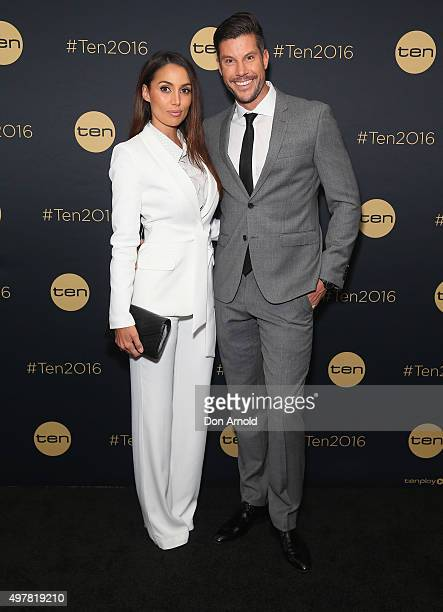 Snezana Markoski and Sam Wood pose at The Star during the Network 10 Content Plan 2016 event on November 19 2015 in Sydney Australia