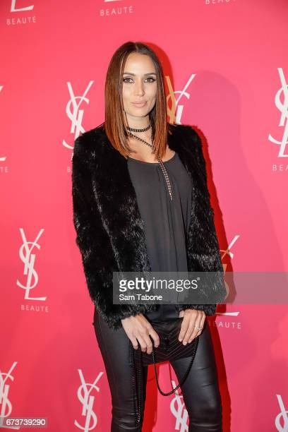 Snezana Markoski arrives at Meat Market as YSL Beauty Club Takes Over Melbourne on April 27 2017 in Melbourne Australia