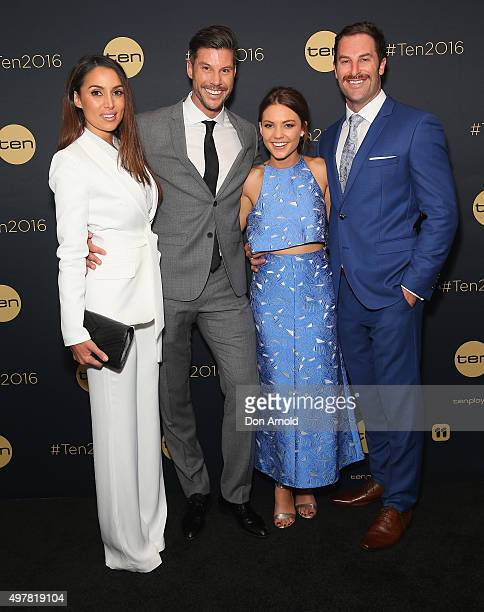 Snezana Markoski Sam Wood Sam Frost and Sasha Mielczarek pose at The Star during the Network 10 Content Plan 2016 event on November 19 2015 in Sydney...