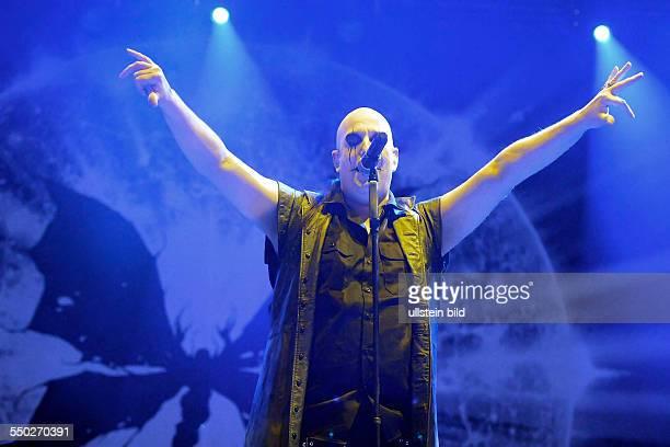 Sänger Alexander Asp Frank während des Mera Luna Festivals in Hildesheim