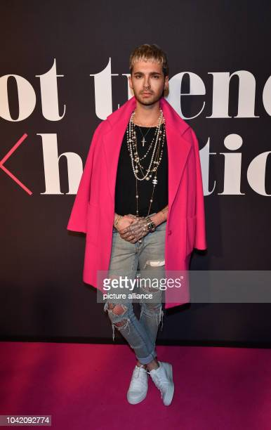 """Sänger Bill Kaulitz kommt zur Make-Up-Show """"Maybelline New York hot trends Xhibition"""" im Rahmen der Berliner Modewoche am in Berlin. Foto: Jens..."""