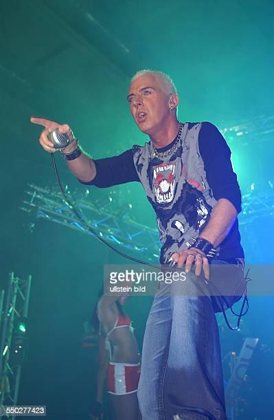 Sänger H.P.Baxxter anlässlich eines Konzertes in der Berliner Columbiahalle