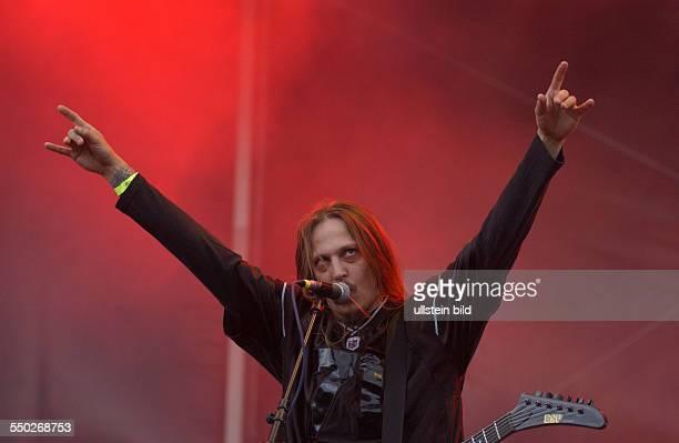 Sänger Peter Tätgran während des With Full Forc Festivals in Roitzschjora