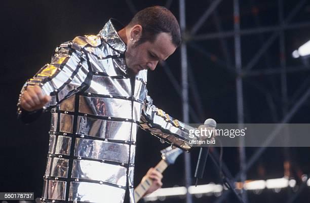 Sänger Tim Ripper Owens während des WithFullForceFestivals in Roitzschjora