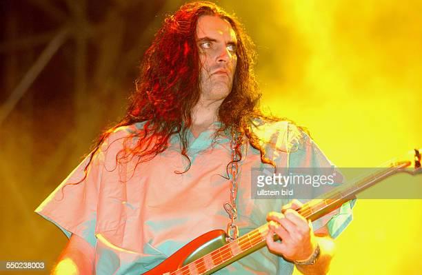 Sänger und Bassist Peter Steele anlässlich des With Full Force Festivals in Roitzschjora