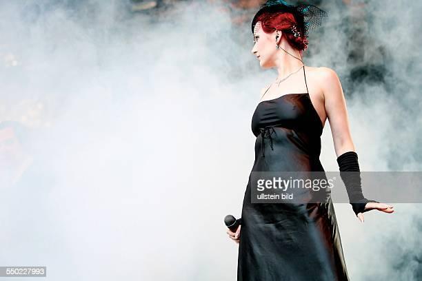 Sängerin Constanze Rudert anlässlich des Woodstage Open Air in Glauchau