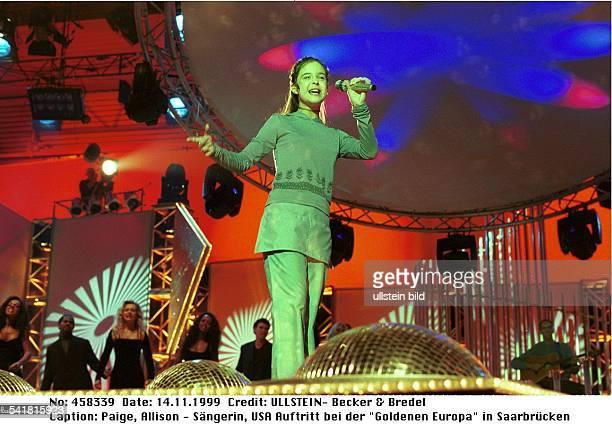 Sängerin USAAuftritt bei der Goldenen Europa in Saarbrücken