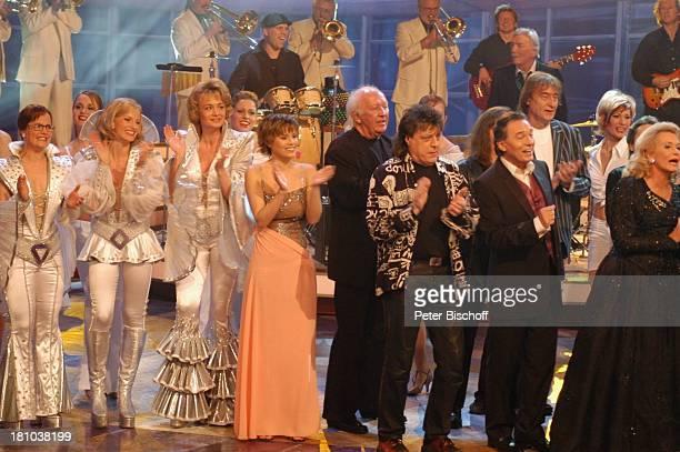 Sängerinnen aus dem Musical Mamma Mia Francine Jordi Musikgruppe Puhdys Hannelore Kramm Hintergrund James Last und sein Orchester ZDFMusikShow...