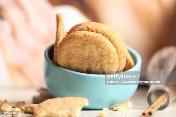 snickerdoodle cookie - snickerdoodle stock pictures, royalty-free photos & images