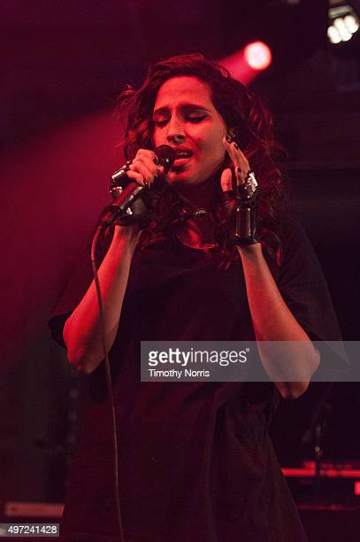 Snoh Aalegra performs for Relief Live at LA River Studios on November 14 2015 in Los Angeles California