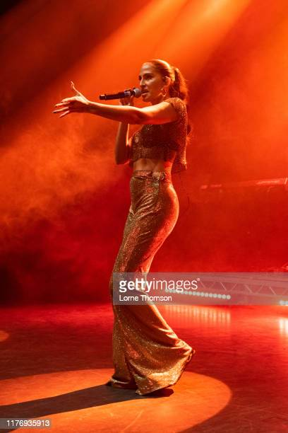 Snoh Aalegra performs on stage at O2 Shepherd's Bush Empire on September 24 2019 in London England