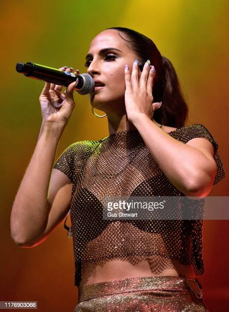 Snoh Aalegra performs on stage at the O2 Shepherd's Bush Empire on September 24 2019 in London England