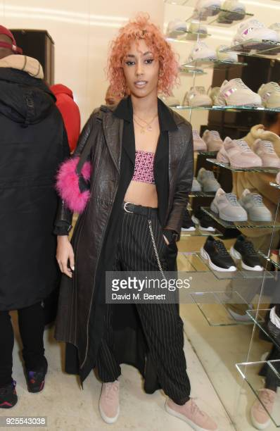 Snoochie Shy attends the What We Wear x Axel Arigato pop up shop launch party on February 28 2018 in London England