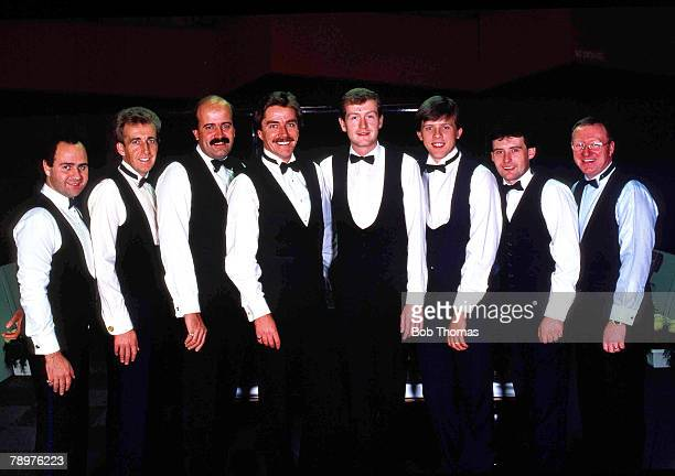 Snooker, 7th October 1988, Barry Hearn+s -Matchroom+ team, Tony Meo, Terry Griffiths, Willie Thorne, Cliff Thorburn, Steve Davis, Neal Foulds, Jimmy...