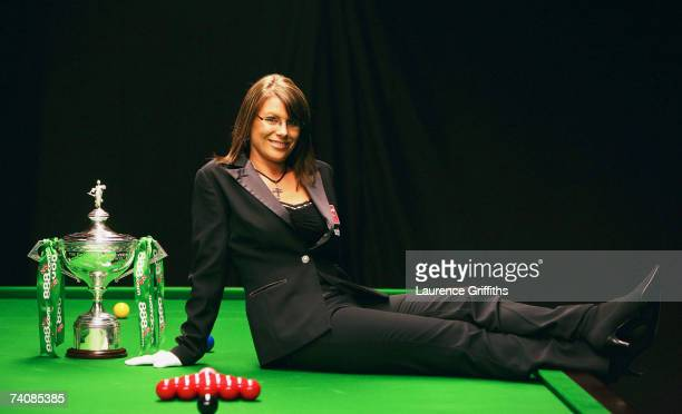 Snooker Match Referee Michaela Tabb poses for photographs during the 888com World Championship at the Crucible Theatre on May 4 2007 in Sheffield...