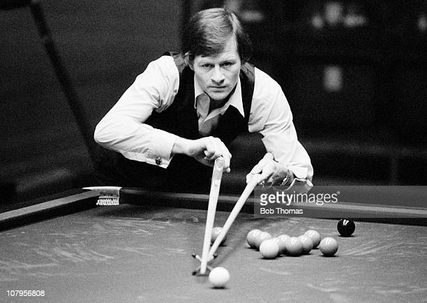 Snooker player Alex Higgins at the Wembley Conference Centre in London circa 1979