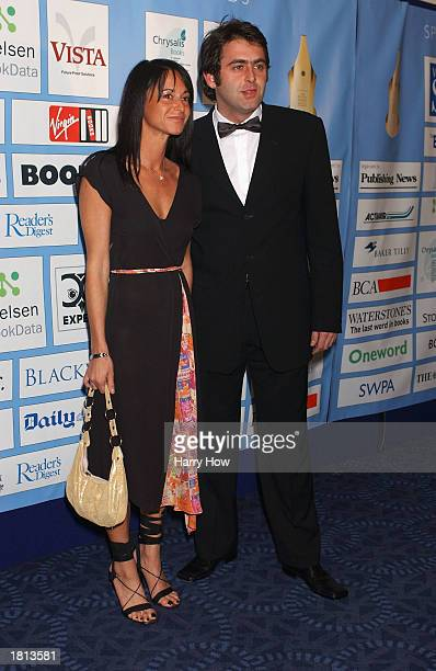 Snooker player Ronnie O'Sullivan and fiance Jo Langley arrive at the British Book Awards at the Le Meridian Grosvenor House on February 24 2003 in...